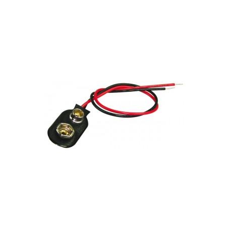 Connecteur clip pour pile 9 volrs (6F22)